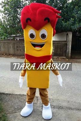 contoh kostum badut maskot kris bee kecil