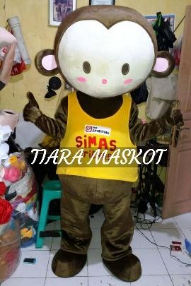 kostum maskot perusahaan monkey PT sinar mas