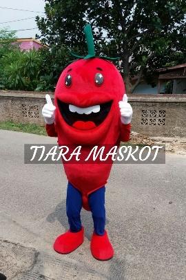 Desain kostum maskot cabai merah