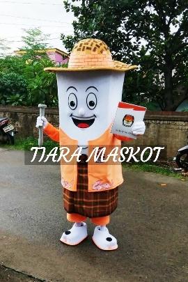 Si tudung kostum maskot kpu kabupaten tangerang