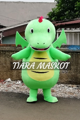 contoh kostum maskot perusahaan karakter dinosaurus