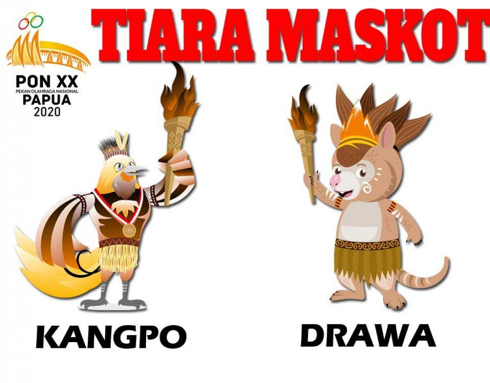 kostum maskot pon papua 2020 kangpo drawa xx